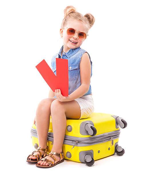 Girl Travel Suitcase